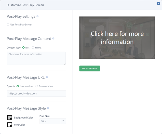 Easily Create Post Play Screens with SproutVideo