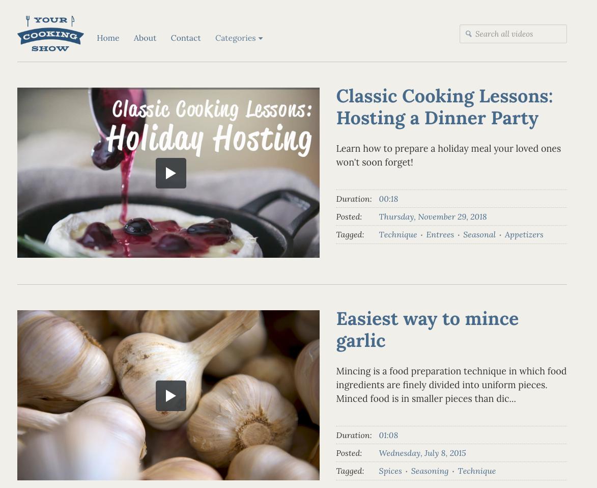video website example