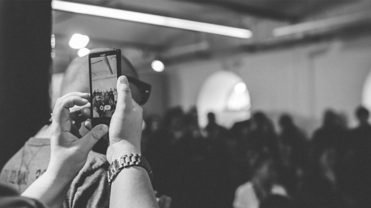 Phone recording at a concert