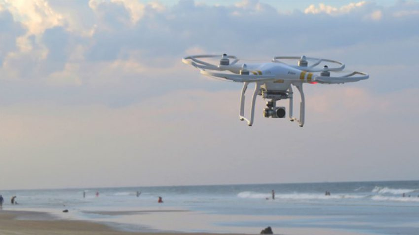 Photo drone in the sky