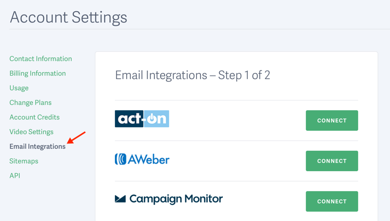Enable a Marketing Integration for Your SproutVideo Account