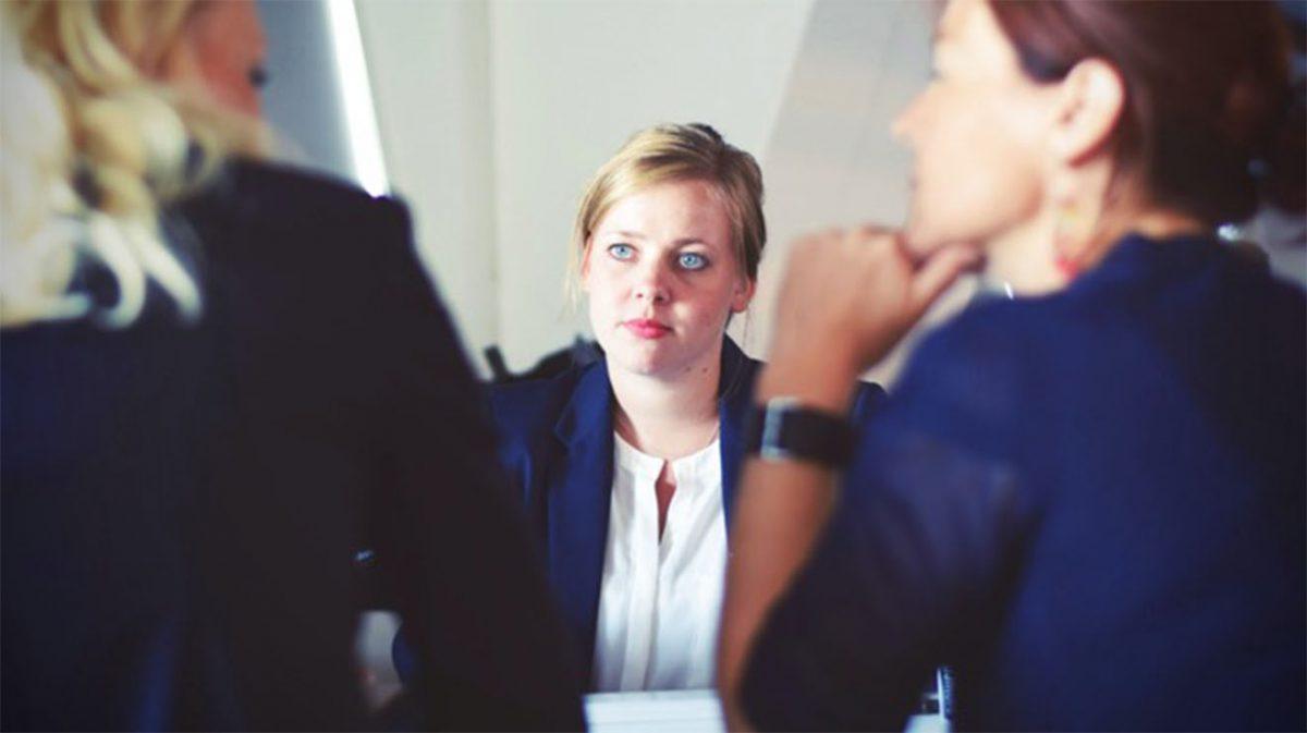 Women in meeting