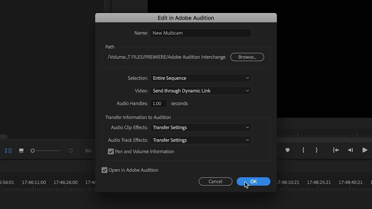 Default Settings for Adobe Audition Edit Audio