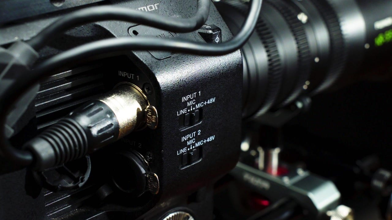 example of an XLR audio input for a video camera
