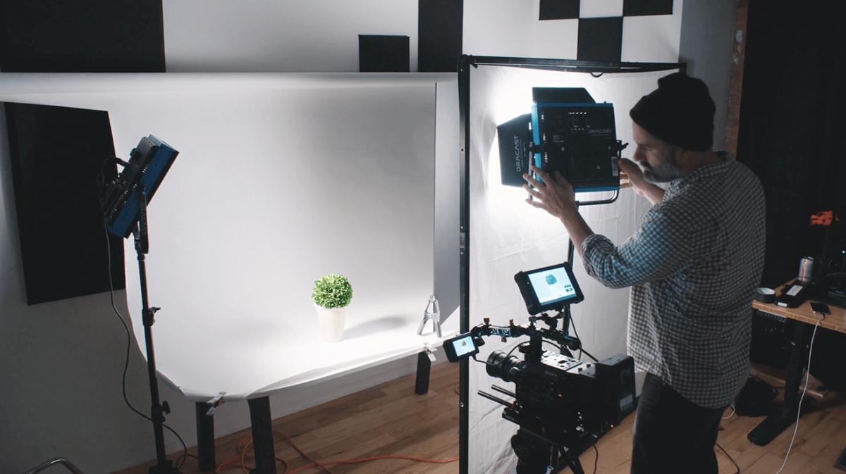 Still Life Video Shoot Lighting Setup