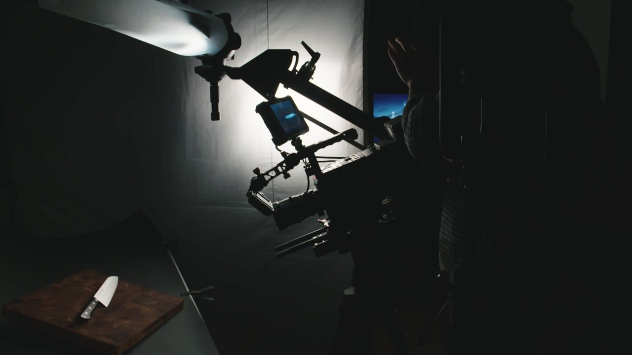 LED on jib with soft fill for still life