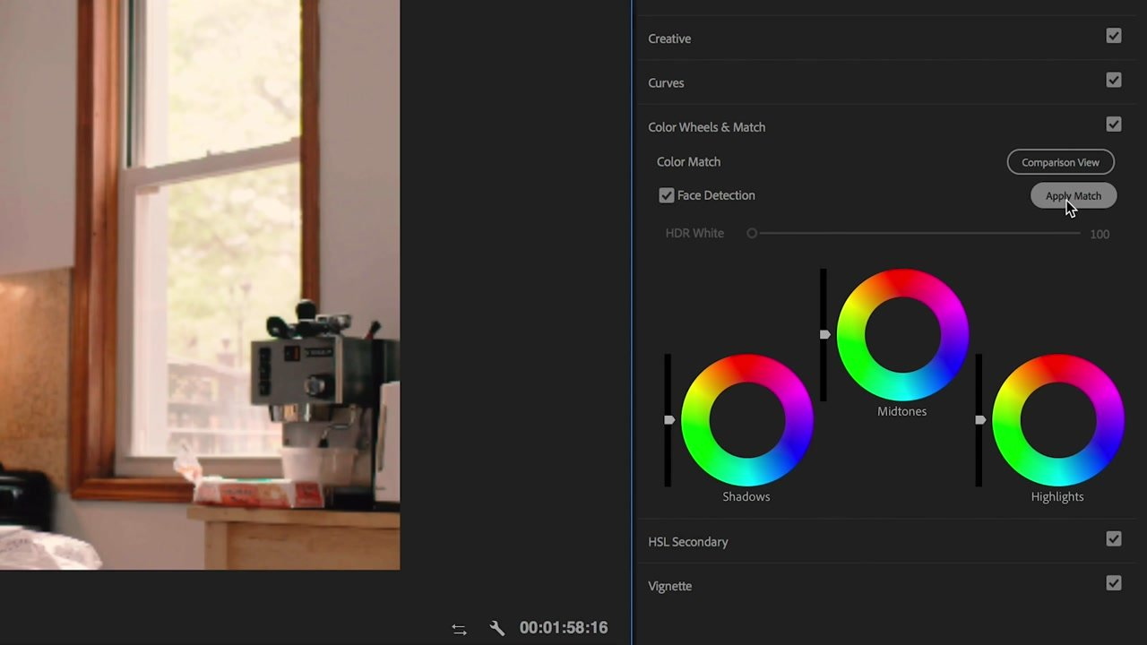 Color Matching in Lumetri