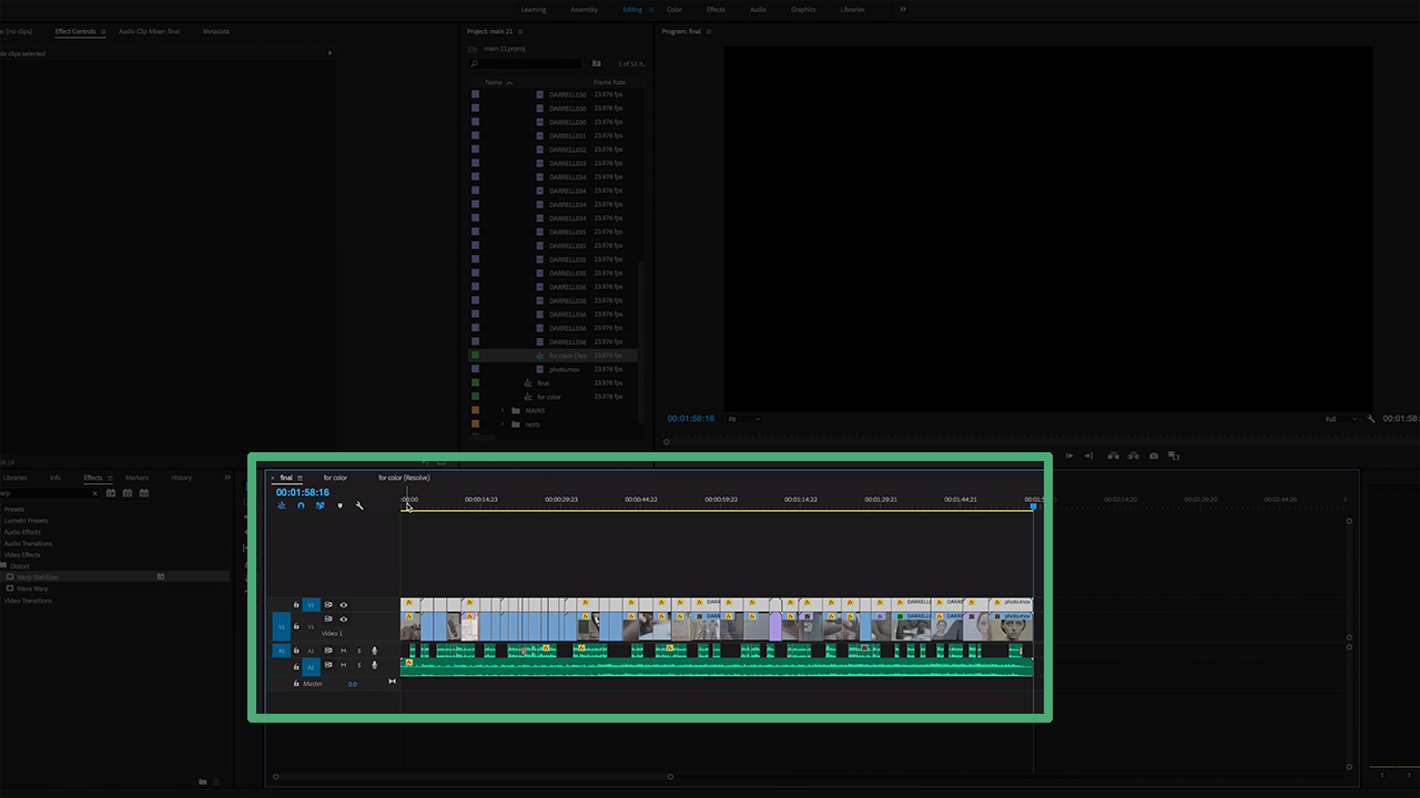 Finalize Video in Adobe Premiere