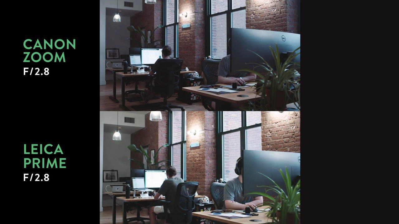 F-Stop lens exposure comparison
