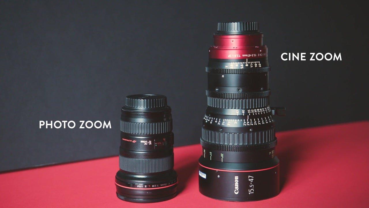 photo and cinema zoom lens comparison