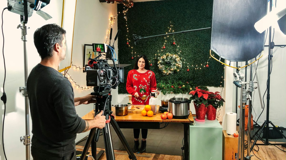 Behind the scenes of holiday video