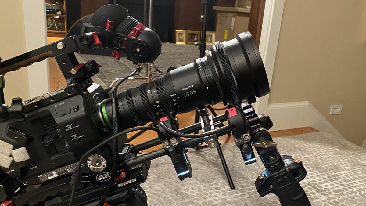 Sony FS7 with anamorphic lens and follow focus