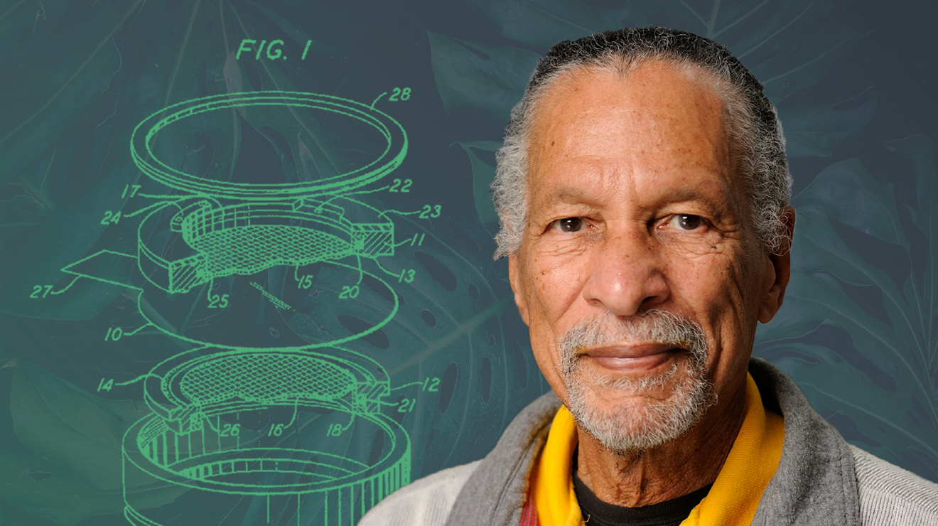 Dr. James West with Electret Microphone Patent